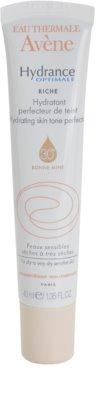 Avene Hydrance crema hidratante nutritiva con efecto unificador del tono para pieles secas y muy secas