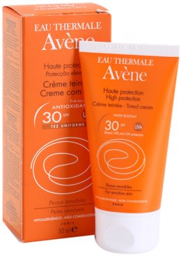 Avene Sun Sensitive ochranný tónovací krém na obličej SPF 30 1