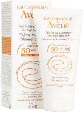Avene Sun Mineral ochranný krém na obličej bez chemických filtrů a parfemace SPF 50+ 1