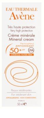 Avene Sun Mineral ochranný krém na obličej bez chemických filtrů a parfemace SPF 50+ 3