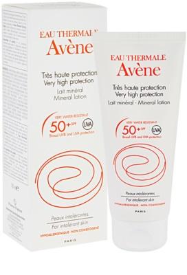 Avene Sun Mineral ochranné mléko bez chemických filtrů a parfemace SPF 50+ 1