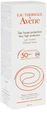Avene Sun Mineral ochranné mléko bez chemických filtrů a parfemace SPF 50+ 2