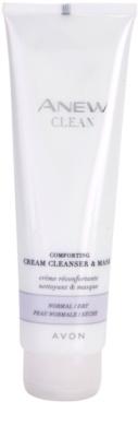 Avon Anew Clean beruhigendes Creme-Reinigungsgel und Maske für normale und trockene Haut