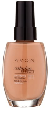 Avon Calming Effects Mattifying успокояващ фон дьо тен за матиране