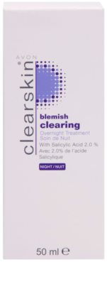 Avon Clearskin  Blemish Clearing нічний догляд   проти акне 2