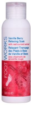 Avon Foot Works Vanilla Berry заспокійлива ванна для ніг