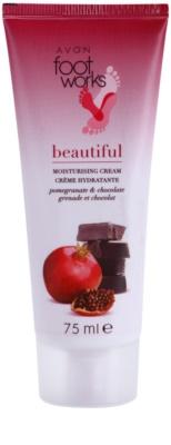 Avon Foot Works Beautiful crema hidratanta pentru picioare cu rodie si ciocolata