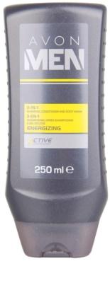 Avon Men Energizing душ гел  за тяло и коса