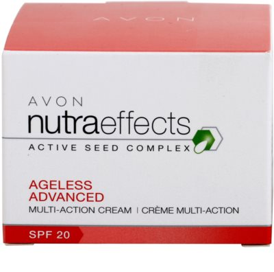 Avon Nutra Effects Ageless Advanced intensive Tagescreme mit verjüngender Wirkung SPF 20 3