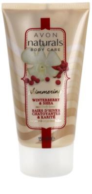 Avon Naturals Body лосион за тяло с блестящи частици с илекс и масло от бамбук