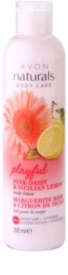 Avon Naturals Body leite corporal hidratante com margarida e limão