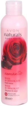 Avon Naturals Body tělové mléko s růží a čokoládou