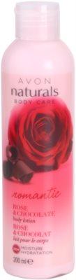 Avon Naturals Body telové mlieko s ružou a čokoládou