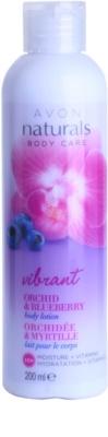 Avon Naturals Body leite corporal com orquídea e mirtilo