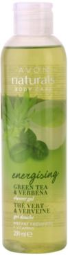 Avon Naturals Body освежаващ душ гел със зелен чай и върбинка