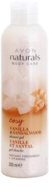 Avon Naturals Body освіжаючий гель для душа з ваніллю і сандаловим деревом