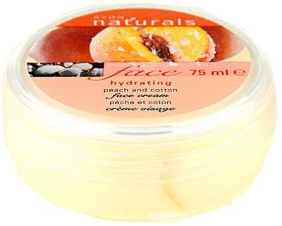 Avon Naturals Face crema hidratanta cu piersici si bumbac