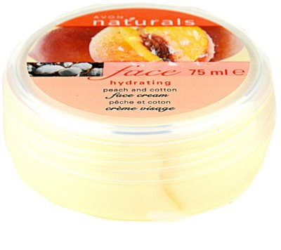 Avon Naturals Face crema hidratante con melocotón y algodón