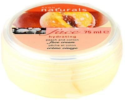 Avon Naturals Face hydratační krém s broskví a bavlnou