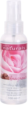 Avon Naturals Fragrance testápoló spray rózsával és csokoládéval
