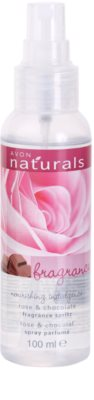 Avon Naturals Fragrance spray corporal com rosas e chocolate 1