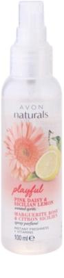 Avon Naturals Fragrance spray corporal com margarida e limão