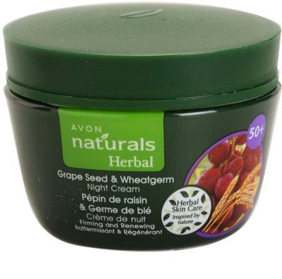 Avon Naturals Herbal zpevňující obnovující noční krém s výtažky z hroznových jader a pšeničných klíčků