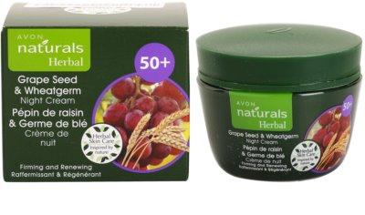 Avon Naturals Herbal zpevňující obnovující noční krém s výtažky z hroznových jader a pšeničných klíčků 2