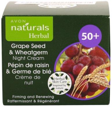Avon Naturals Herbal zpevňující obnovující noční krém s výtažky z hroznových jader a pšeničných klíčků 4