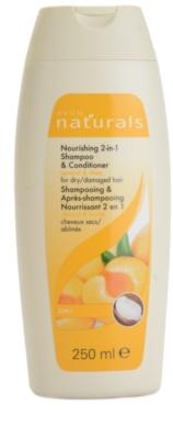 Avon Naturals Hair Care 2 în 1 Șampon și Balsam hrănitor pentru par uscat si deteriorat