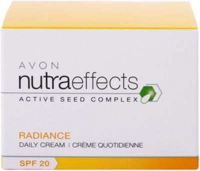 Avon Nutra Effects Radiance creme de dia iluminador SPF 20 4