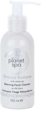 Avon Planet Spa Oriental Radiance почистващ гел за лице с бял чай