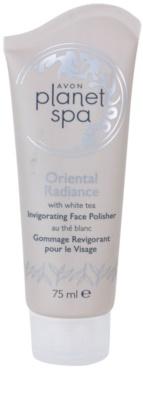 Avon Planet Spa Oriental Radiance osvežilni piling za obraz z belim čajem
