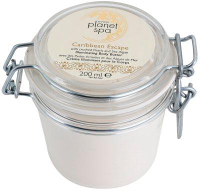 Avon Planet Spa Caribbean Escape Creme corporal com extratos de pérolas e algas para uma pele radiante