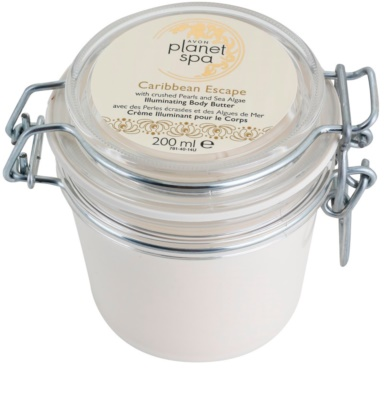 Avon Planet Spa Caribbean Escape роз'яснюючий крем для тіла з екстрактами перлів і морських водоростей