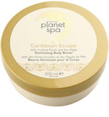 Avon Planet Spa Caribbean Escape crema corporal iluminador con extracto de perlas y algas marinas 4