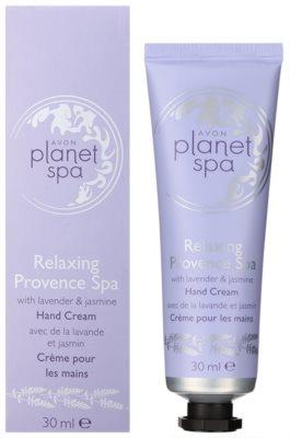 Avon Planet Spa Provence Lavender feuchtigkeitsspendende Creme für die Hände mit Lavendel 1