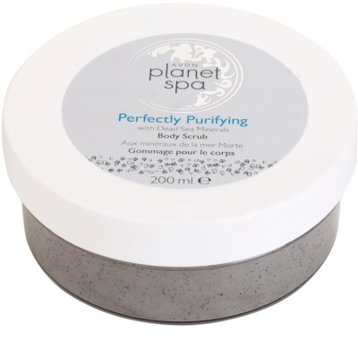 Avon Planet Spa Perfectly Purifying esfoliante de limpeza corporal com minerais