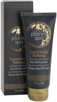 Avon Planet Spa Luxury Spa mascarilla reparadora facial peel-off de lujo con extracto de caviar negro 2