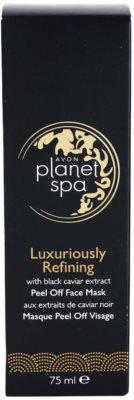 Avon Planet Spa Luxury Spa mascarilla reparadora facial peel-off de lujo con extracto de caviar negro 3