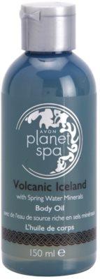 Avon Planet Spa Volcanic Iceland melengető testolaj a fürdéshez vulkanikus ásványi anyagokkal és forrásvízzel