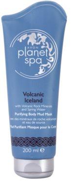 Avon Planet Spa Volcanic Iceland Máscara de lama corporal de limpeza com minerais vulcânicos e água da nascente