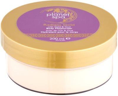 Avon Planet Spa Radiant Gold крем для тіла для освітлення та зволоження