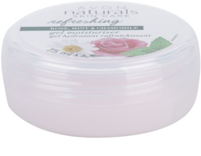 Avon Naturals Refreshing gel hidratant cu extract de trandafir, menta si musetel