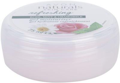 Avon Naturals Refreshing gel hidratante com rosas, hortelã e camomila