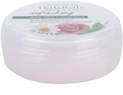 Avon Naturals Refreshing gel hidratante con extractos de rosa, menta y manzanilla