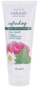 Avon Naturals Refreshing feuchtigkeitsspendende Maske für das Gesicht  mit Rosen, Minze und Kamille