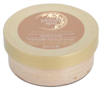 Avon Planet Spa Indulgent SPA Ritual jemný tělový krém s bambuckým máslem a čokoládou