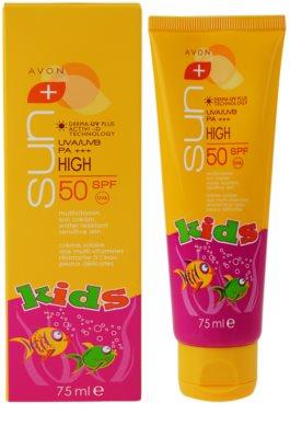 Avon Sun Kids wodoodporny krem do opalania dla dzieci SPF 50 1
