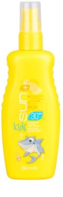 Avon Sun Kids türkises, wasserfestes Sonnenspray SPF 30